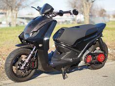 2009 Yamaha Zuma 125 CUSTOM 155cc Scooter Carbon Fiber + Stretched not Ruckus