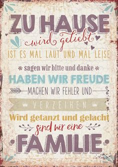 Postkarte - Zu Hause wird... Remember Quotes, German Words, Jesus Is Lord, Faith Quotes, Happy Quotes, Good To Know, Cool Words, Decir No, Hand Lettering