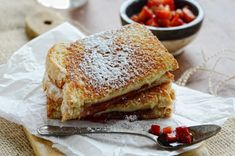 Try this out. A grilled cheese sandwich stuffed with a strawberry and balsamic vinegar relish. Talk about a delicious twist on a classic American sandwich! Thanks to Faith Gorsky for this treat!