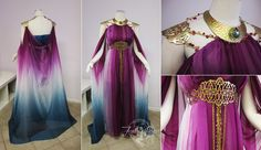 Beautiful costume dress made by Firefly Path - Inspired by Game of Thrones Daenerys Targaryen and Princess Zelda. This great gown needs an awesome mask or filigree headpiece to be divinely smashing! Pretty Dresses, Beautiful Dresses, Archer Costume, Beautiful Costumes, Fantasy Costumes, Fantasy Dress, Costume Dress, Elf Costume, Character Outfits