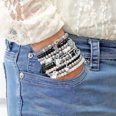 Beaded Bracelets Set of 10 Stretch Bracelets Faith and Love Themed – Bohemian Bracelets - Bohemian Bracelets, Bohemian Jewelry, Handmade Bracelets, Beaded Jewelry, Colorful Bracelets, Earrings Handmade, Bracelet Set, Bangle Bracelets, Making Bracelets With Beads