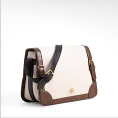 """Tory Burch Ally Shoulder Bag NWOT, Never used. Leather shoulder bag with small gold logo hardware, Magnetic fold over closure, interior zip with two additional open pockets, canvas lining, adjustable shoulder strap with 8 1/2"""" drop. Tory Burch Bags Shoulder Bags"""