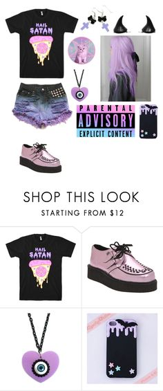 """""""Pastel goth"""" by xxdanielledamagedxx ❤ liked on Polyvore featuring T.U.K. and As Is"""