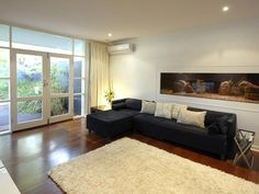 lounge with fishtank