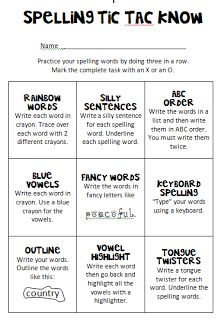 Creative writing words list
