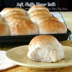 Big, Soft, Fluffy Dinner Rolls These easy to make dinner rolls can be made in less than 2 hours.