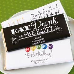 Personalized Birthday Hershey's Chocolate Bars