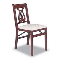 Stakmore Chippendale Cherry & Blush Folding Chair - Set of Two Dining Room Sets, Dining Room Chairs, Kitchen Chairs, Dining Table, Patio Chairs, Outdoor Chairs, Wood Chairs, Outdoor Furniture, Queen Anne Chair