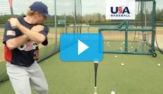 This drill helps players practice hitting line drives back up the middle, controlling the barrel of the bat, and keeping their shoulders closed. Baseball Hitting Drills, Softball Drills, Softball Coach, Softball Stuff, Travel Baseball, Baseball Tips, Tigers Baseball, Baseball 2016, Baseball Field