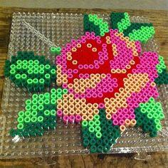 Perler Bead rose