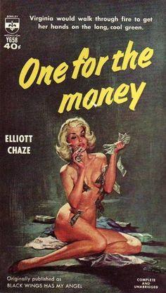 One for the Money pulp novel Art Pulp Fiction, Pulp Art, Fiction Books, Dibujos Pin Up, One For The Money, Serpieri, Crime, Pulp Magazine, Magazine Art