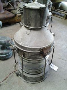 Lantern, Galvanized Steel from Black Dog Salvage