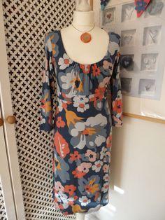 Boden Printed Scoop Jersey Dress