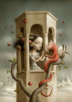By Nicoletta Ceccoli - Clearly a follower of Mark Ryden - but she is fabulous !
