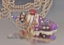 SOLD! $68 Lilac Conch Vessel Necklace