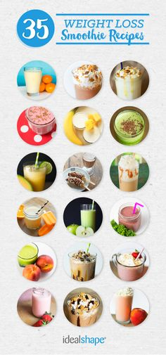 These 35 Smoothie Recipes are AMAZING for weight loss.