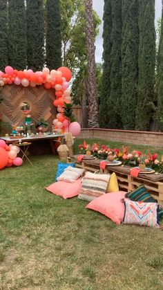Loving all the Moana Birthday themes and was not disappointed with my own. Outside Birthday Parties, Birthday Party Decorations For Adults, Backyard Party Decorations, Outdoor Birthday, Garden Birthday, Adult Birthday Party, First Birthday Parties, Birthday Party Themes, First Birthdays