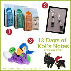 Enter to win kibble from Open Farm, lampwork beaded dog bone earrings from For Love of A Dog and Hatchables Dog Toys from Fetch Pet Products. US/CAN 12/20 #ContestEntry
