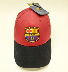 2e7c647cec6 Official Barcelona FC baseball hat cap. 100% cotton with flat embroidered  logo.