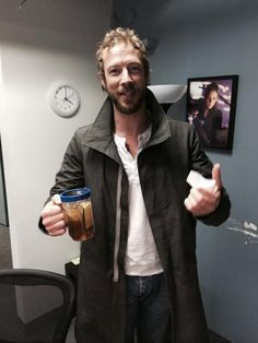 Kris Holden-Ried after table read for Lost Girl Season 5