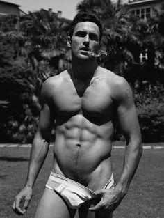 Noah Mills..  Omg.. I don't know who this is, but take the rest of it off honey.. Don't let me stop you..  Mmm.. Naked men for breakfast.