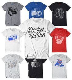 Dodge and Burn Photography T-shirts