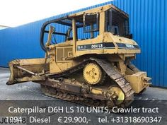Caterpillar D6H LS 10 UNITS, Crawler tractor, Dozer, 130 KW, Bucket 3,80... Mobile Marketing, Semi Trucks, Social Networks, Social Media, Crawler Tractor, Sale Promotion, Caterpillar, Military Vehicles, Tractors