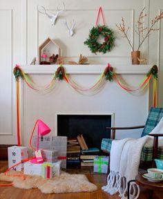 my scandinavian home: Tuesday DIY: Neon Christmas decorations
