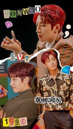 Seventeen Wonwoo, Seventeen Jun, Carat Seventeen, Seventeen Memes, Woozi, Jeonghan, Aesthetic Lockscreens, Boys Wallpaper, Wallpaper Lockscreen
