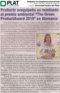 Universidad Católica San Pablo: Amigalitos en competencia internacional en el diario Del País de Perú (24/06/16)