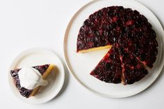 Any Size Pan Will Work for Your Cake With This Cheat Sheet | Epicurious Frozen Fruit, Frozen Blueberries, Frozen Cherries, Tart Cherries, Bento, Cherry Upside Down Cake, Cherry Cake, Cherry Desserts, Scones