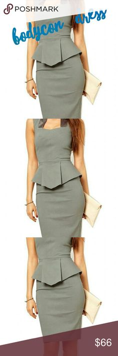 BODYCON BUSINESS KNEE LENGTH PENCIL DRESS New with tags very cute office dress knee length bodycon gray dress stretchy fabric and this material this one is a size small  OPEN TO ALL REASONABLE OFFERS  ANY QUESTIONS PLEASE FEEL FREE TO ASK Dresses