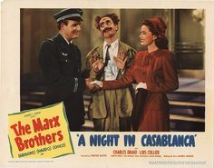 Lobby Card from the film A Night In Casablanca