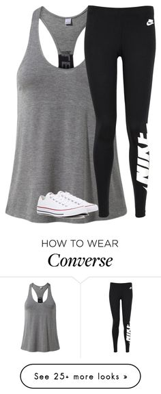 """Untitled #2532"" by laurenatria11 on Polyvore featuring MANGO, NIKE and Converse"