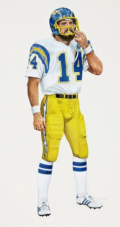 Dan Fouts of the San Diego Chargers by Merv Corning