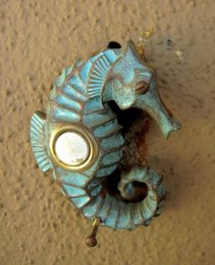 A darling seahorse door bell, for the touch of the sea whether you live near the ocean or not.