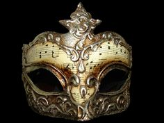 Gold Musical Venetian Mask by FantasyStock on DeviantArt Trendy Jewelry, Jewelry Trends, Fashion Jewelry, Venetian Masquerade Masks, Carnival Of Venice, Mask Design, Jewelry Branding, Artist At Work, Bali
