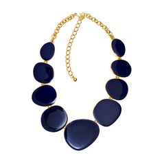 Kenneth Jay Lane Blue Enamel Circle Necklace ($275) ❤ liked on Polyvore featuring jewelry, necklaces, accessories, colares, blue, women, kenneth jay lane necklace, circle jewelry, retro jewelry and chain necklaces