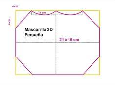 Mascara de tecido 3D: Moldes e medidas em todos os tamanhos para imprimir grátis - Como Fazer Sewing Patterns Free, Free Pattern, Diy Kids Furniture, Diy For Kids, 3 D, Crafty, Crochet, How To Make, Selfie Captions