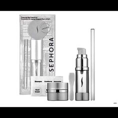 Sephora Frequent Flyer Travel Set Safely take your favorite beauty products along for the ride with this set of traveling containers. The tube is perfect for housing skincare products, serums, shampoo, conditioner, and makeup remover, while the jar is ideal for creams and gels. The sleek containers are perfectly sized to meet carry-on regulations and ensure easy, comfortable travel. Sephora Makeup