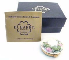 Dubarry Limoges Box - Ladies Hat with Sculpted Roses Limoges Box
