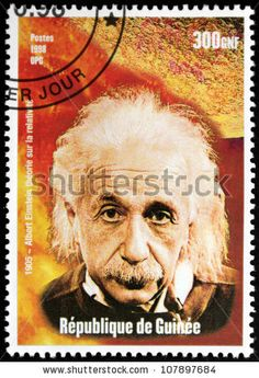 Albert Einstein ~ Republic of Guinee Postage Stamp Art, Going Postal, Stamp Printing, Love Stamps, Vintage Stamps, Stamp Collecting, Albert Einstein, Science Nature, Famous People