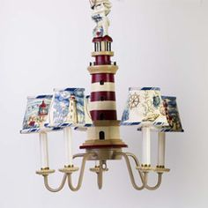 Whimsical Lighthouse Chandelier