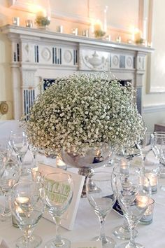 Romantic Table Arrangement; Wedding Table Idea (BridesMagazine.co.uk)