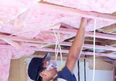 pink Fiberglass batts