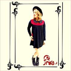Vestido Jain de plush - negro rojopara sentirte hermosa a pesar de la lluvia. Es un amor de Otoño #frika_ropalinda #ropadediseño #argentina #mujer #ventas #amor #love #photooftheday #beautiful #fashion #follow #sale
