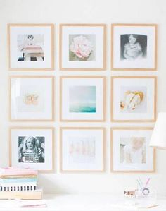 Light wood frames look great on a wall