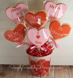 Simply Sweets by Honeybee: Valentine's Cookie Bouquets