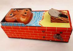 1960s Yone Japanese Mechanical Tin Hippo by WonderfulChildhood