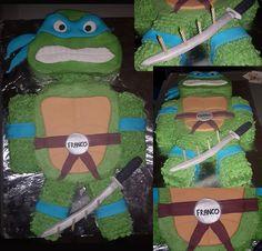 Ninja Turtle Cake Bloemfontein cakes and cupcakes For orders email SweetArtBfn@gmail.com or call Lola @ 0712127786 Cupcake Toppers, Cupcake Cakes, Cupcakes, Ninja Turtles, Fondant, Icing, Cake Decorating, Cupcake, Fondant Icing